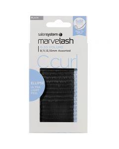 Marvelash C Curl Lashes 0.20 Volume Assorted Lengths Black x 2960 by Salon System