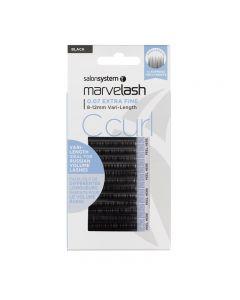 Marvelash C Curl Lashes 0.07 Extra Fine 8-12mm Vari-Length Black x 7840 by Salon System
