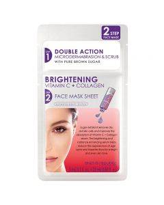 Skin Republic 2 Step Brightening Vitamin C & Collagen Face Sheet Mask