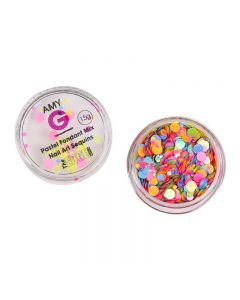 Amy G Pastel Fondant Mix Nail Art Sequins 1.5g by The Edge