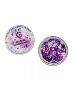 Amy G Candy Mix Nail Art Sequins 1.5g by The Edge