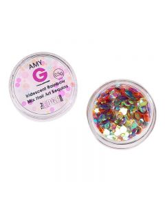 Amy G Iridescent Rainbow Mix Nail Art Sequins 0.5g by The Edge