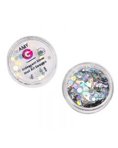 Amy G Iridescent Silver Nail Art Sequins 0.5g by The Edge