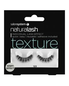 Salon System Naturalash 123 Black Texture Wispy Effect Strip Lashes