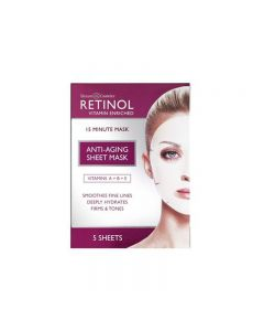 Retinol Vitamin A 15 Minute Sheet Mask Pack of 5