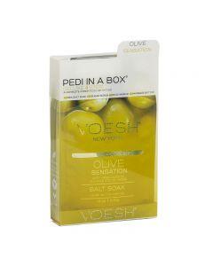 Voesh Pedi In A Box Deluxe 4 Step Olive Sensation