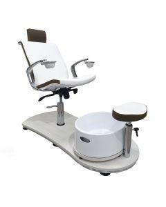 Vismara Mini Island Evo Pedicure Chair With Raised Support In White Larch