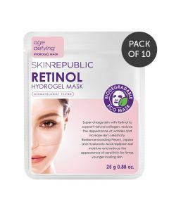 Skin Republic Hydrogel Retinol Hydrogel Face Mask Sheet Pack of 10