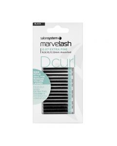 Marvelash D Curl Lashes 0.07 Extra Fine Assorted Lengths Black x 5520 by Salon System
