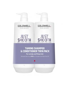 Goldwell Dualsenses Just Smooth 1L Twin Pack Shampoo and Conditioner