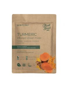BeautyPro Plant Based TURMERIC INFUSED Sheet Mask 25ml