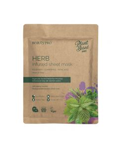 BeautyPro Plant Based HERB INFUSED Sheet Mask 25ml