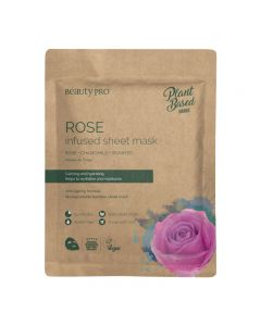 BeautyPro Plant Based ROSE INFUSED Sheet Mask 25ml