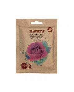 natura ROSE INFUSED sheet mask 25ml