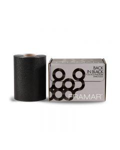 Framar Back In Black Embossed Foil Roll Medium (13cm x 98m)