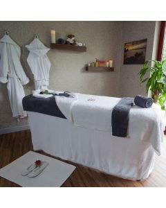 BC Softwear Serenity Waffle Couch Cover White with Head Hole 200x240cm