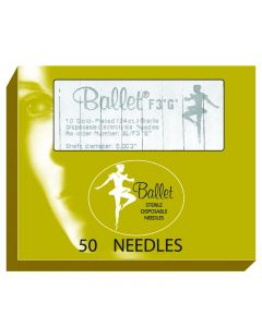 Ballet Gold Plated Needles K2 002 (x50)