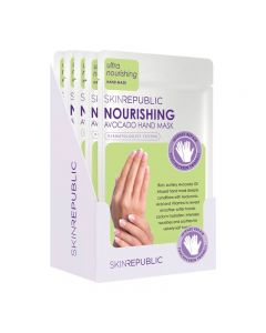 Skin Republic Hand Mask Nourishing Avocado 18g Pack of 10