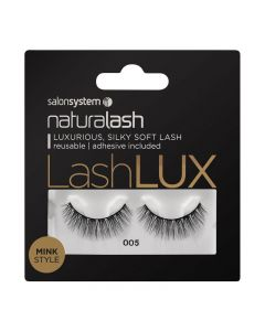 Salon System Naturalash Lashlux 005 Black Mink Style Strip Lashes