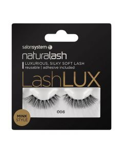 Salon System Naturalash Lashlux 006 Black Mink Style Strip Lashes