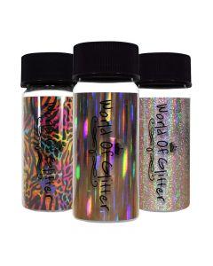 World Of Glitter Nail Foil 4 x 15cm