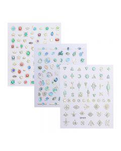 World Of Glitter Nail Art Sticker Sheet