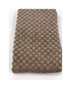 BC Softwear Serenity Spa Waffle Patterned Bath Towel Pebble 70 x 135cm