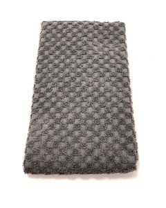 BC Softwear Serenity Spa Waffle Patterned Bath Towel Slate Grey 70 x 135cm
