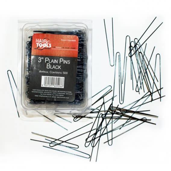 """Hair Tools Plain Pins 3"""" x 500"""