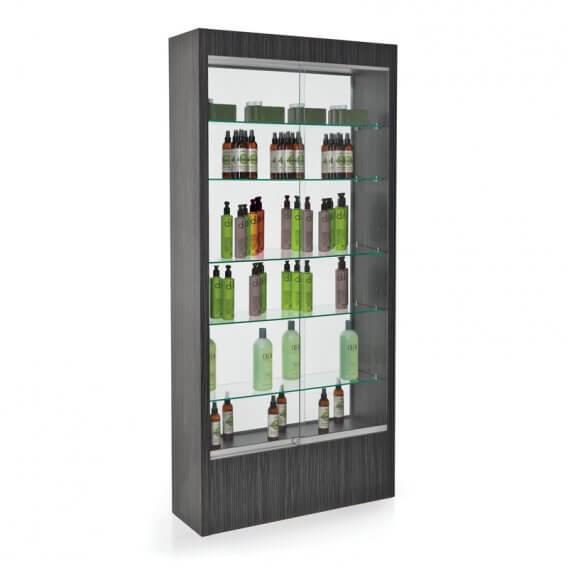 REM Quartz Glass Retail Unit with Mirror Back