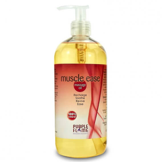 Purple Flame Muscle Ease Therapeutic Massage Oil 500ml