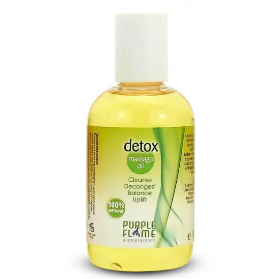 Purple Flame Detox Therapeutic Massage Oil 100ml