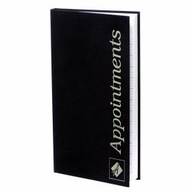 Agenda Appointment Book 3 Column Black