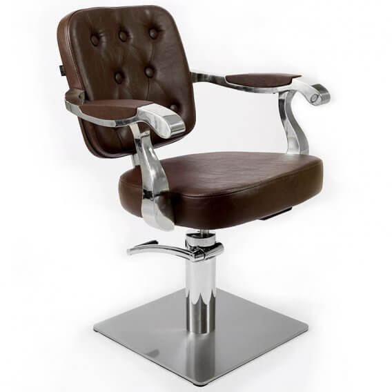 Lotus Minster Styling Chair Brown Square Base