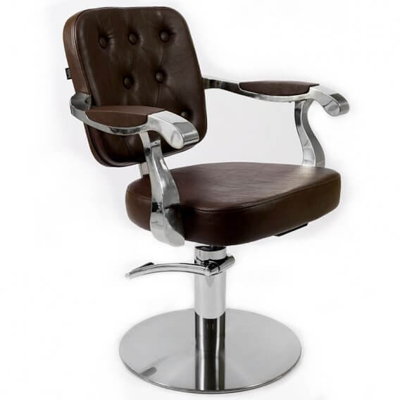 Lotus Minster Styling Chair Brown Round Base