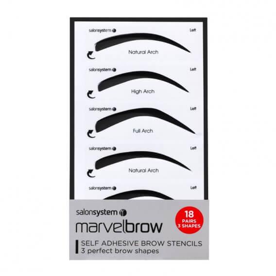 Marvelbrow Self Adhesive Brow Stencils 18 Pairs
