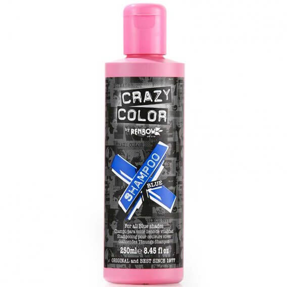 crazy color vibrant color shampoo blue 250ml salons direct. Black Bedroom Furniture Sets. Home Design Ideas