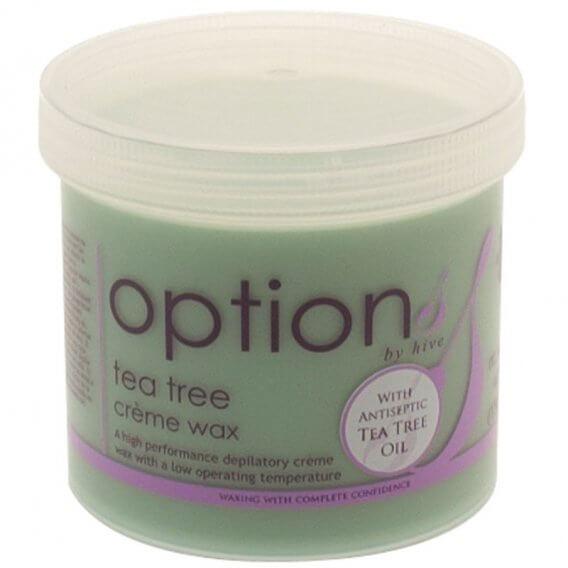 Options by Hive Tea Tree Creme Wax 425g