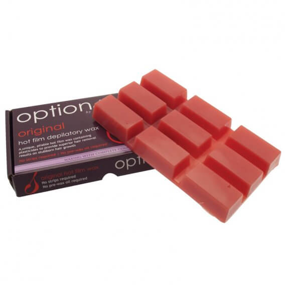 Options by Hive Original Hot Film Wax Block (Red) 500g