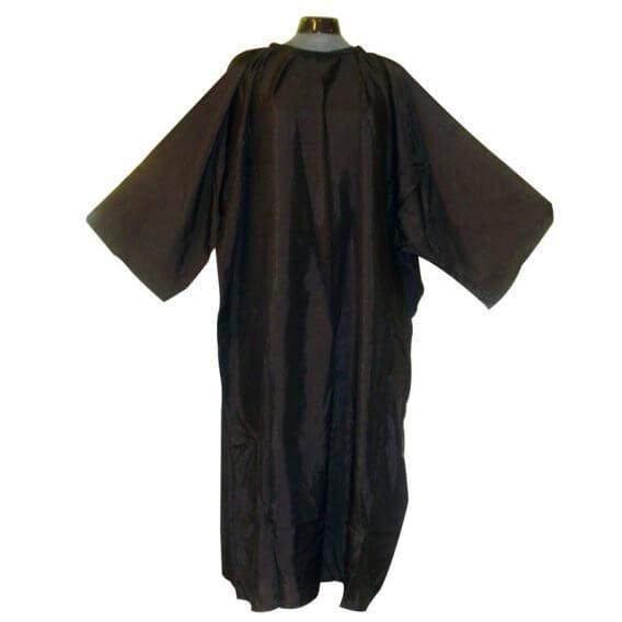 Lotus Crinkle Nylon Cutting Gown/Sleeve Black