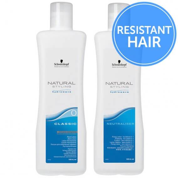 Schwarzkopf Natural Styling Hydrowave Classic Perm + Neutraliser - 0 Resistant Hair 2 x 1 Litre