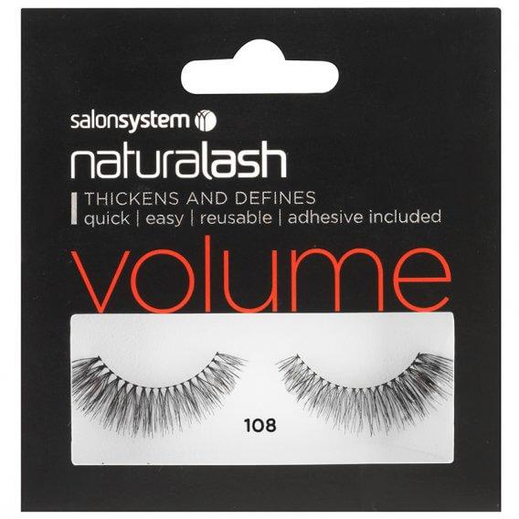 Salon System Naturalash 108 Black Natural Volume+ Strip Lashes