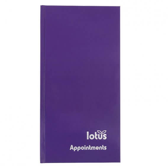 Lotus Purple Appointment Book 3 Column