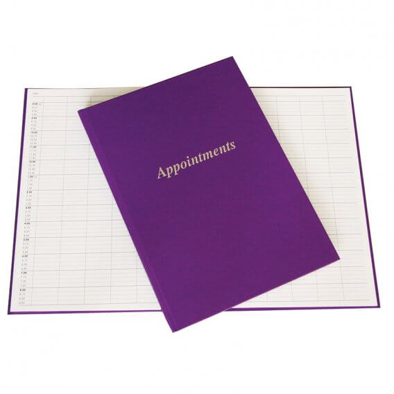 Lotus Purple Appointment Book 6 Column