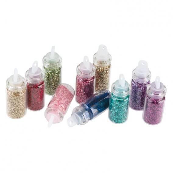 Sibel Nail Glitter Dust Kit 3 Pack of 10