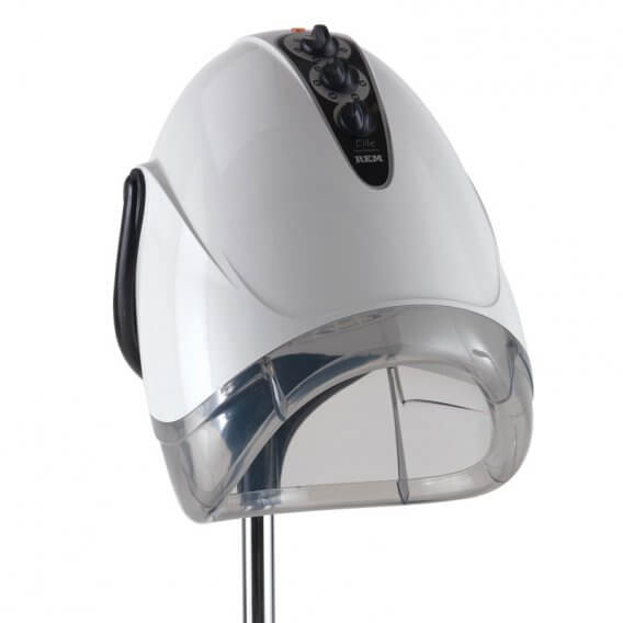 REM Elite Next Generation White Couch Hood Dryer With Pole