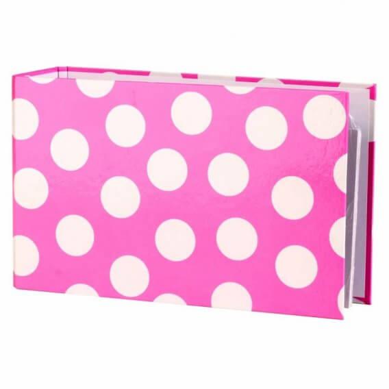 Polka Binder Pink with A-Z Index Set