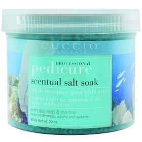 Cuccio Naturale Pedicure Scentual Salt Soak Sea Kelp & Tea Tree 29oz