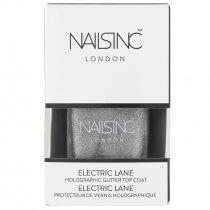 Nails Inc Electric Lane Holographic Top Coat Nail Polish 14ml