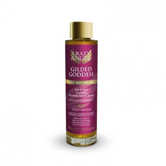 Crazy Angel Gilded Goddess Self Tan Dry Oil 100ml